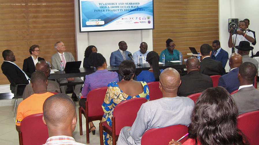 Press conference in Ghana