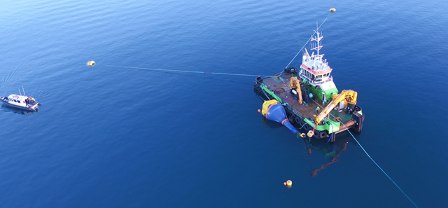 Image of CorPower C3 WEC deployment at EMEC Scapa Flow site (Credit CorPower)